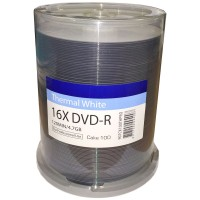 Traxdata Ritek Full Face Thermal Printable 16x DVD-R in 100 Cake