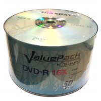 Traxdata ValuePack Branded 16x DVD-R in 50 Pack