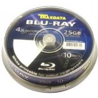 Traxdata RITEK (Blu-ray) INKJET PRINTABLE BD-R 25GB 1x - 4x Speed Single Layer Disc (10 TUB)