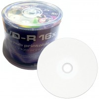 Traxdata Premium White Full Face Printable 16x DVD-R in 50 Tub / Cake