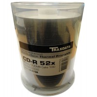 Traxdata Ritek PRO-Series DIAMOND THERMAL White Full Face Printable 52x 80min CD-R - 100 TUB