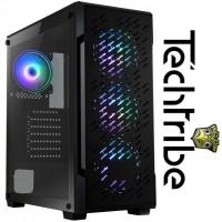 TechTribe Crossfire Intel i5 10400F, 16GB DDR4, 1TB Hard Drive & 256GB M.2 SSD, Nvidia Geforce GTX 1660 Ti Graphics, Gaming Desktop