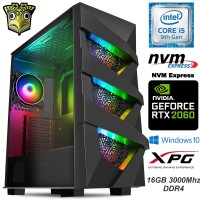 TechTribe Vengeance Gaming PC with NVIDIA GeForce RTX 2060, 16GB DDR4, 1TB M.2 SSD and Intel Six Core i5 9th Gen - Win 10