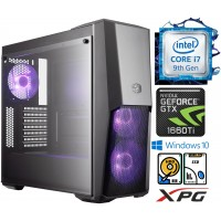 TechTribe Master Intel i7 9700KF 9th Gen, 16GB RGB RAM, 1TB Hard Drive & 256GB M.2 SSD, 6GB Nvidia Geforce GTX 1660 Ti Graphics, Gaming Desktop - Win 10
