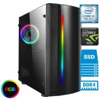 TechTribe Beam Gaming PC with NVIDIA GeForce GTX 1650 and Intel Core i3 9100F Quad Core