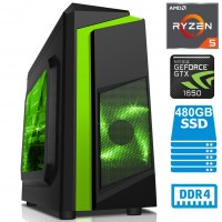TechTribe F3 Gaming PC with NVIDIA GeForce GTX 1650, 16GB DDR4, 480GB SSD and Ryzen 5 2600 Six Core - Win 10