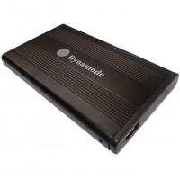 Dynamode USB 3.0 Aluminium 2.5'' SATA External Hard Drive Enclosure - USB3-HD2.5S-BC - Black