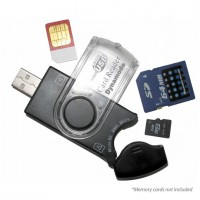 Dynamode USB Mobile SIM and Memory Card Reader - USB-CR-31