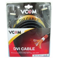 VCOM DVI-D (M) to DVI-D (M) 1.8m Black Retail Packaged DVI Monitor / Display Cable