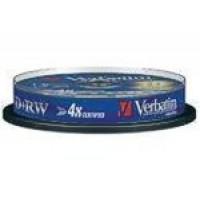 Verbatim 43488 (PLUS+RW - Re-Writable) 4x Speed 4.7GB DVD+RW (10 TUB)