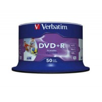 Verbatim 43512 White Full Surface Printable 16x DVD+R in 50 TUB