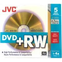 JVC / Taiyo Yuden Premium Grade DVD+RW Re-Writable in 5 Pack - VP-W47HG5