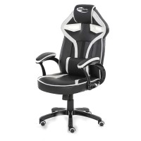 Neo Morpheus Racing Bucket Gaming Chair Black/White with Arm Rests