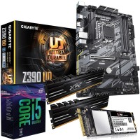 Bundle: Intel i5 8600K Six Core CPU, Gigabyte Z390 UD ATX Motherboard, XPG Gammix 16GB DDR4 3200MHz Memory (2x8GB) & XPG SX6000 512GB M.2 NVMe SSD