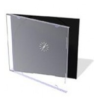 SINGLE SLIMLINE 5.2mm CD/DVD Jewel Case (BLACK INSERT) - 50 BOX
