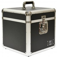 Zilla Black 12 Inch LP Vinyl Record Aluminium DJ Flight Carry Case Holds 100 - Tough Strong