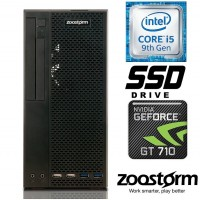 Zoostorm Elite SFF Core i5-9400F 8GB 240GB SSD GeForce GT 710 Desktop PC - 7290-3141 - No O/S