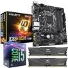 Intel Coffee Lake Bundle: Intel Core i5 9400F Six Core 9th Gen. CPU, Gigabyte B365M DS3H mATX Motherboard & Team Vulcan Z 16GB DDR4 3200MHz Memory (2x8GB)