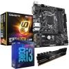 Intel Coffee Lake Bundle: Intel Core i3 9100F Quad Core 9th Gen. CPU, Gigabyte B365M DS3H mATX Motherboard & ADATA XPG Gammix 8GB DDR4 3200MHz Memory