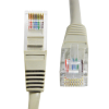 CAT 5E - 1 Metre Straight Wired Network Cable - Grey