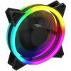 GameMax Velocity 12cm Rainbow ARGB Fan RTB 3pin M&F Aura Header 3pin / 4pin Power