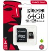 Kingston SDCS 64GB Micro SD Canvas Class 10 UHS-I Memory Card with SD Adapter