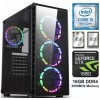 TechTribe Raider Gaming PC with NVIDIA GeForce GTX 1660, 16GB DDR4, SSD and 1TB HDD and Intel Six Core i5 9th Gen - Win 10