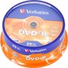 Verbatim 43522 Premium AZO Branded 16x Speed DVD-R - 25 TUB
