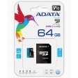 ADATA 64GB Premier Micro SDXC Card with SD Adapter, UHS-I Class 10 with A1 App Performance