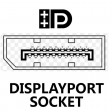 Display Port Male to Display Port Male - Graphics / Monitor / TV Cable GOLD Locking - 2m