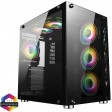 GameMax DS360 Dual Chamber Glass Gaming Case with 6x Infinity ARGB Fans & Hub