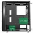 GameMax F15G Gaming Case 2 x 20cm ARGB Front Fans 1 x 12cm Rear ARGB Fan, Glass Front & Side