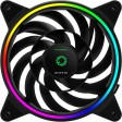 GameMax Razor 12cm Rainbow ARGB Fan RTB 3pin M&F Aura Header 3pin / 4pin Power