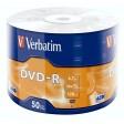 Verbatim 43788 Matt Silver AZO Tech Branded 16x Speed DVD-R - 50 Cellawrap