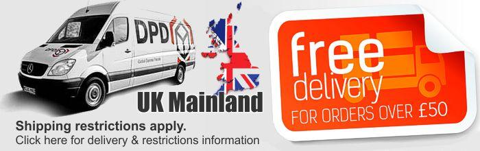 Free UK Mainland Restriction Delivery Information