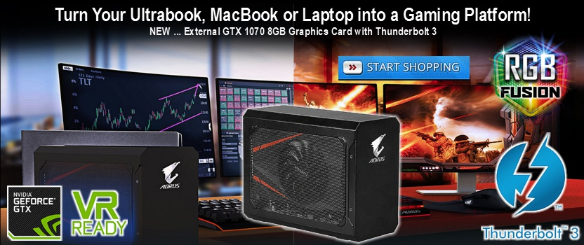 Gigabyte Aorus Geforce GTX 1070 8GB GDDR5 Gaming Box