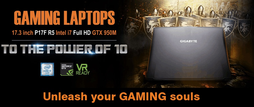 Gigabyte Gaming Laptops