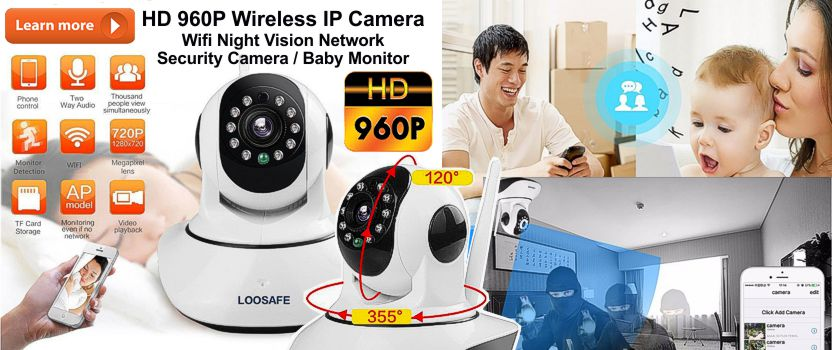 Loosafe HD 960P Wireless IP Network Security Camera
