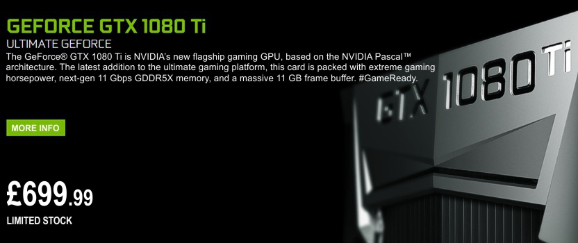 NEW Nvidia GTX 1080Ti Founders Graphics card
