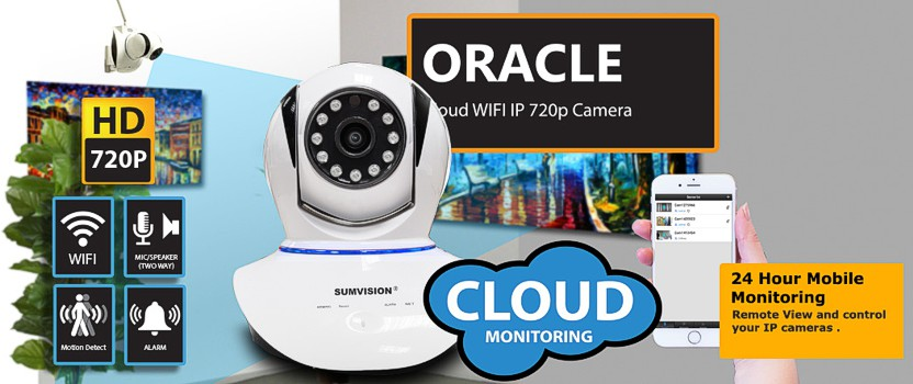 Sumvision Oracle 720P IP CCTV Camera with Wifi and Cloud Support
