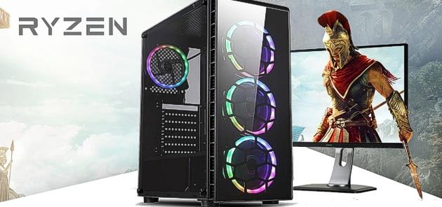 Techtribe Raider Vega 8 Gaming PC - AMD Ryzen Quad Core, 8GB Memory, 1TB  HDD, Vega 8 Graphics, Windows 10 - RGB LEDs